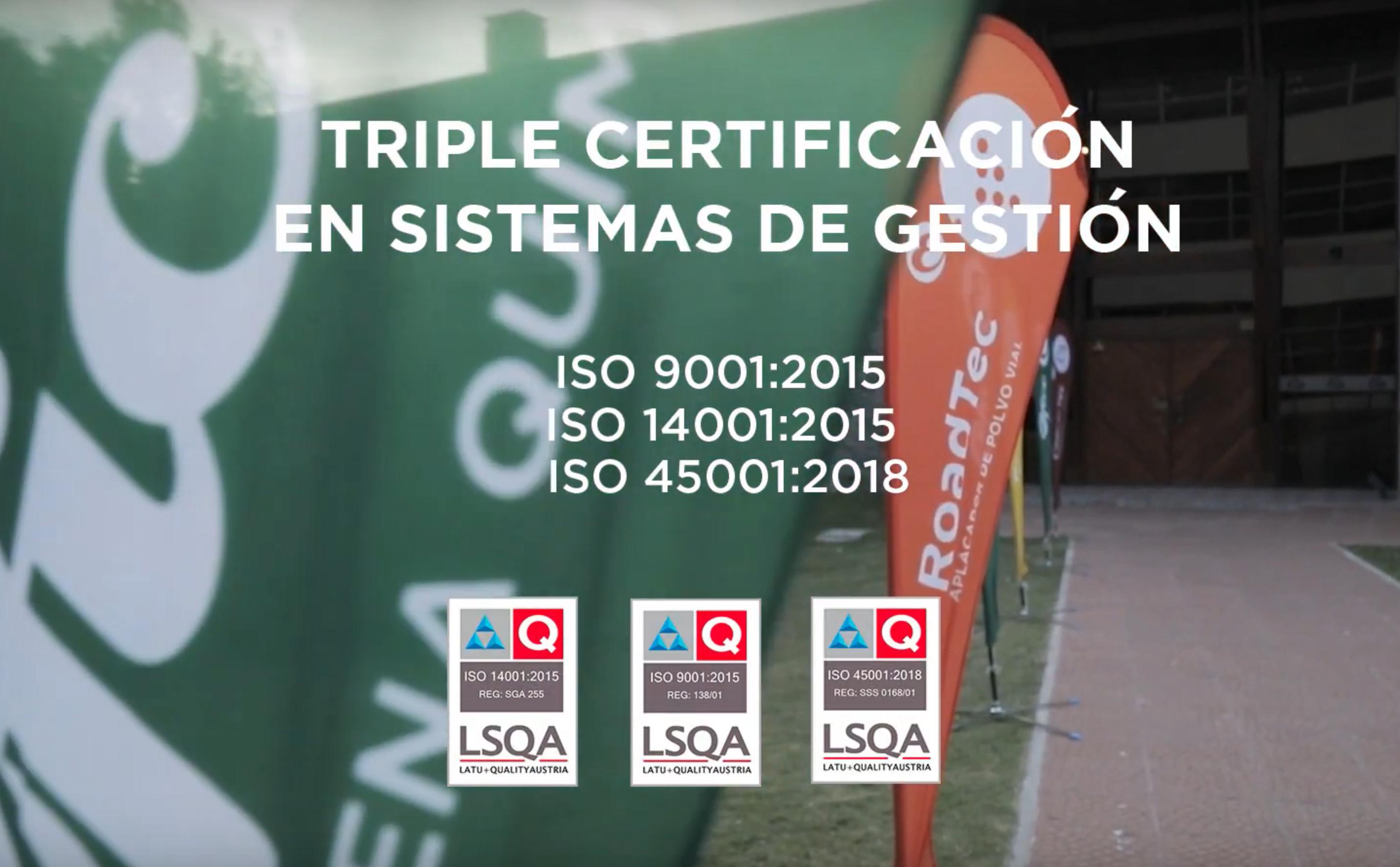 Así vivimos la entrega de la triple Certificación ISO