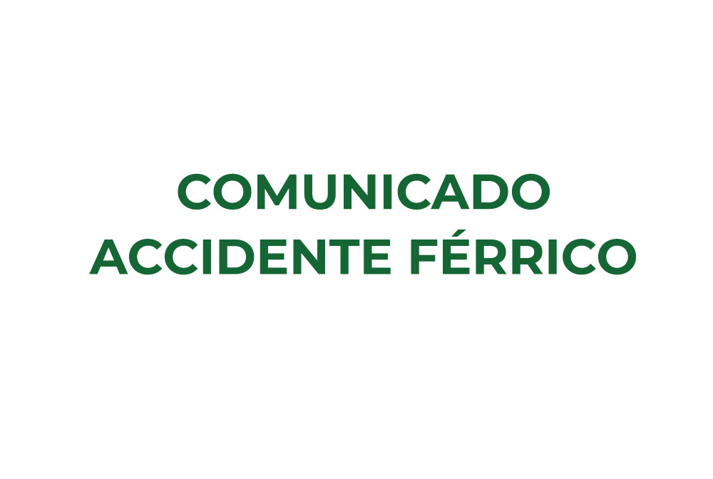 Comunicado accidente férrico